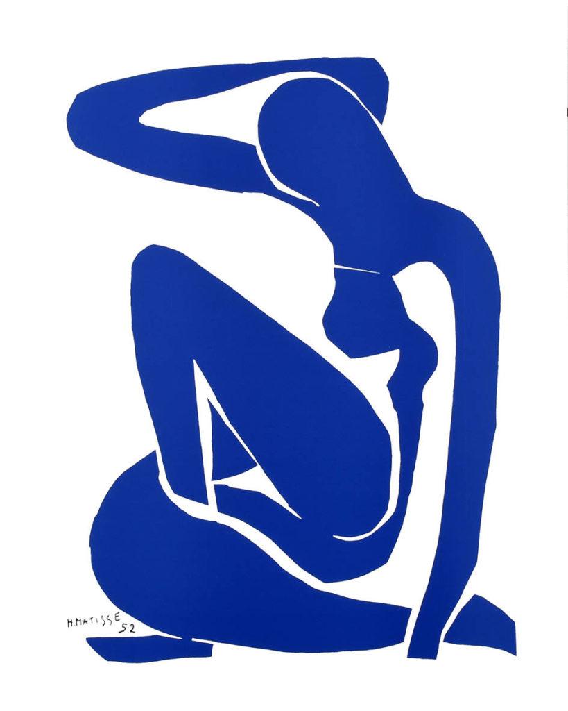 Poster « Henri Matisse Nu Bleu II (Blue Nude II) 1952
